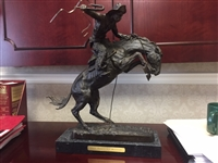 Frederic Remington The Broncho Buster Bronze Statue